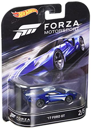 Amazon Com Hot Wheels Retro Entertainment Forza Motorsport  Ford Gt Blue Toys Games