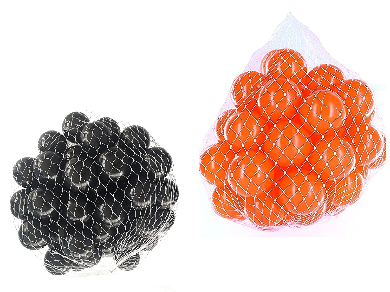 100 Balls for Ball Pool Mix Mix with Orange and Black mybällebad