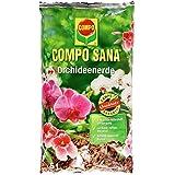 COMPO SANA Orchideenerde mit 8 Wochen Dünger für alle Orchideenarten, Kultursubstrat aus Pinienrinde, 5 Liter