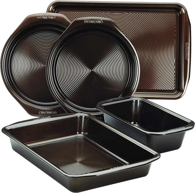 5 Piece Chocolate Circulon 46015 Nonstick Bakeware Set