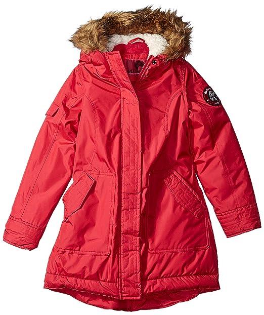 Weatherproof Niñas chamarra a la moda (más estilos disponibles) Chamarra - Rojo - : Amazon.es: Ropa y accesorios
