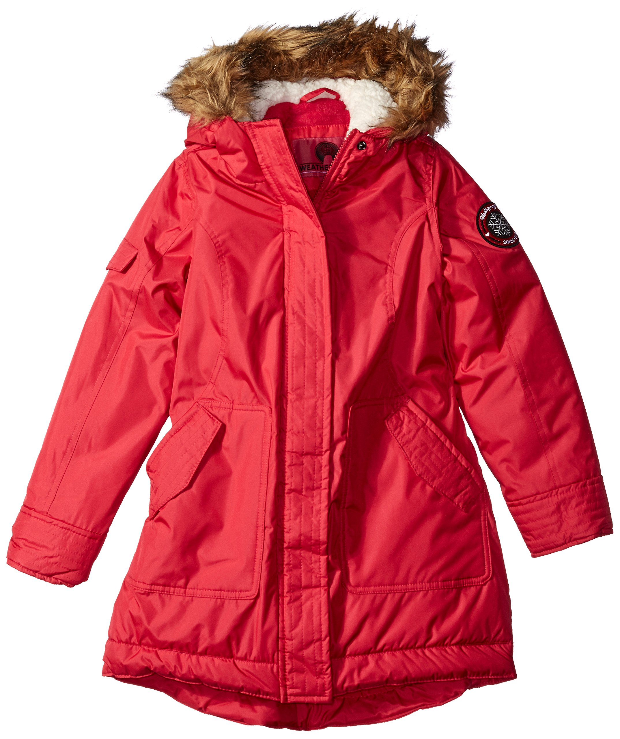 Weatherproof Little Girls' Fashion Outerwear Jacket (More Styles Available), Rose Red a, 5/6