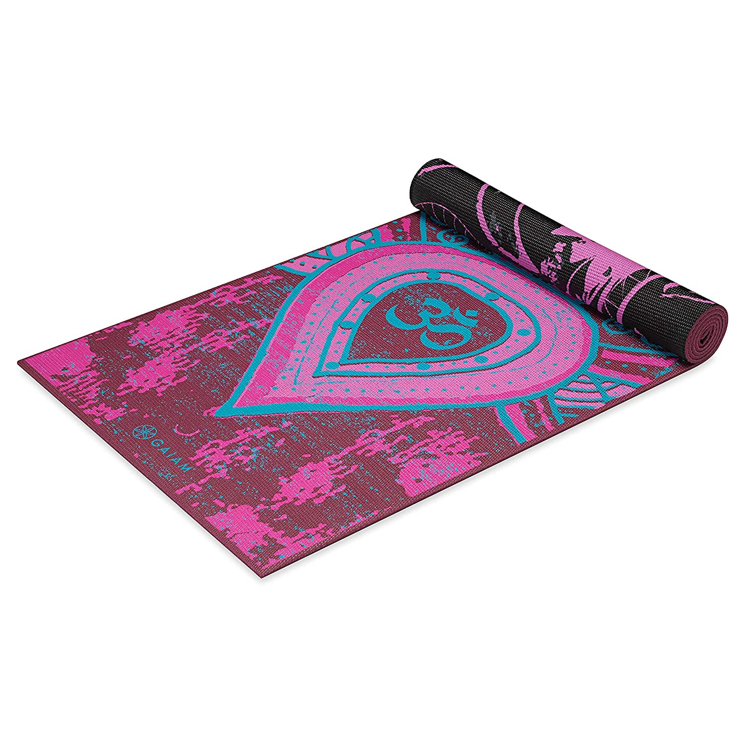 "Gaiam Print Premium Reversible ""Be Free"" Yoga Mat, 5mm"