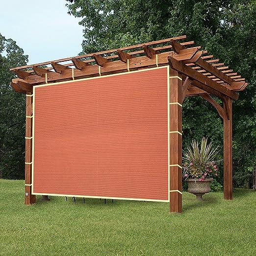 easy2hang Durable Parasol privacidad Panel con cuerda para pérgola, Side lámpara de pared para Instant toldo o Gazebo, tela, Rojo, 12x12: Amazon.es: Hogar