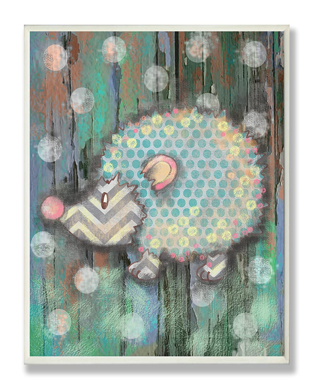 The Kids Room by Stupell Distressed Woodland Porcupine Rectangle Wall Plaque brp-1462
