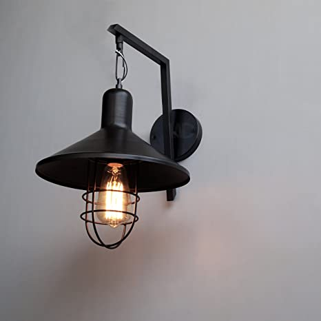 Brand warehouse district urban barn lantern style indoor industrial wall sconce wall lamp industrial
