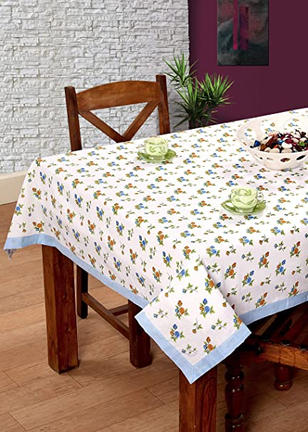 BSB Trendz Cotton Printed 6 Seater Table Cover, 90x60inch (Multicolour)