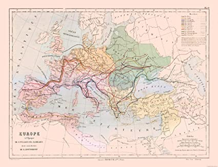 Amazon Com Maps Of The Past International Map Europe Barbarian