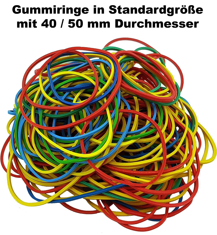 B/üro 100 g Beutel Arbeit Gummiringe Haushalts-Gummis Gummib/änder bunt gemischt farbig Sortiert 100g im Beutel f/ür Haushalt