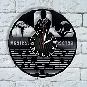 Doctor Gift Clock, Medical Art, Medical Home Decor Wall, Doctor Office Decor, Nurse Wall Art, Doctor Gift idea, Doctor of Physical Therapy