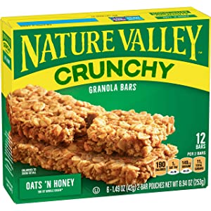 Nature Valley Crunchy Granola Bar Oats 'n Honey 12 ct Bars,8.94 Ounce, Beige (DCS-027)