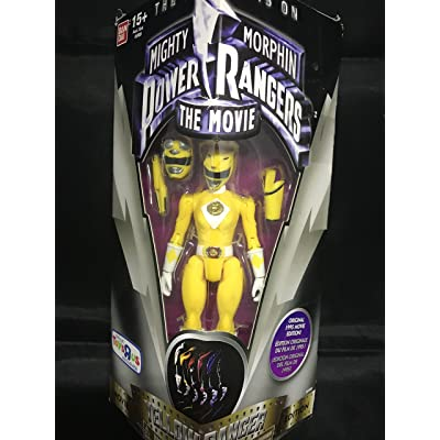 "BANDAI Mighty Morphin Power Rangers The Movie Yellow Ranger 5"" Action Figure: Toys & Games"