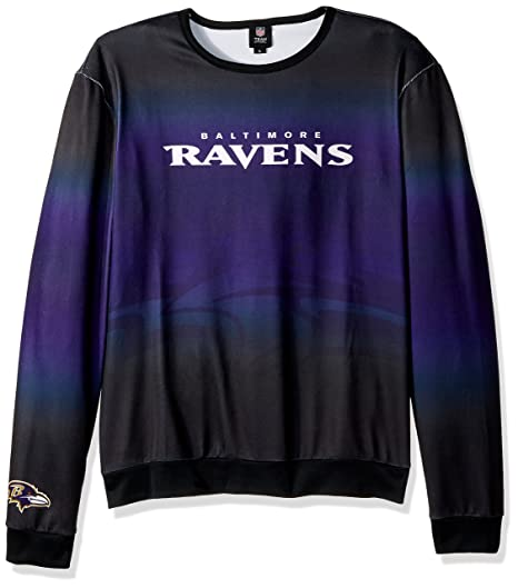 5f3cfecd5 Image Unavailable. Image not available for. Color  Baltimore Ravens Printed  Gradient Crew Neck Sweater - Mens ...