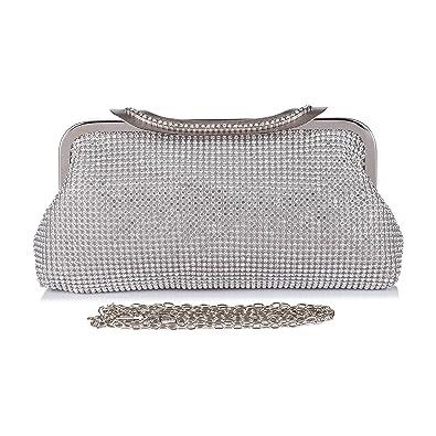 d0e677cda47 Chichitop Crystal Rhinestones Prom Clutches Evening Bags Party Handbag  Wedding Purse Silver