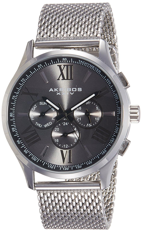 Akribos XXIV Herren-Armbanduhr Man AK844SSB Analog Quarz