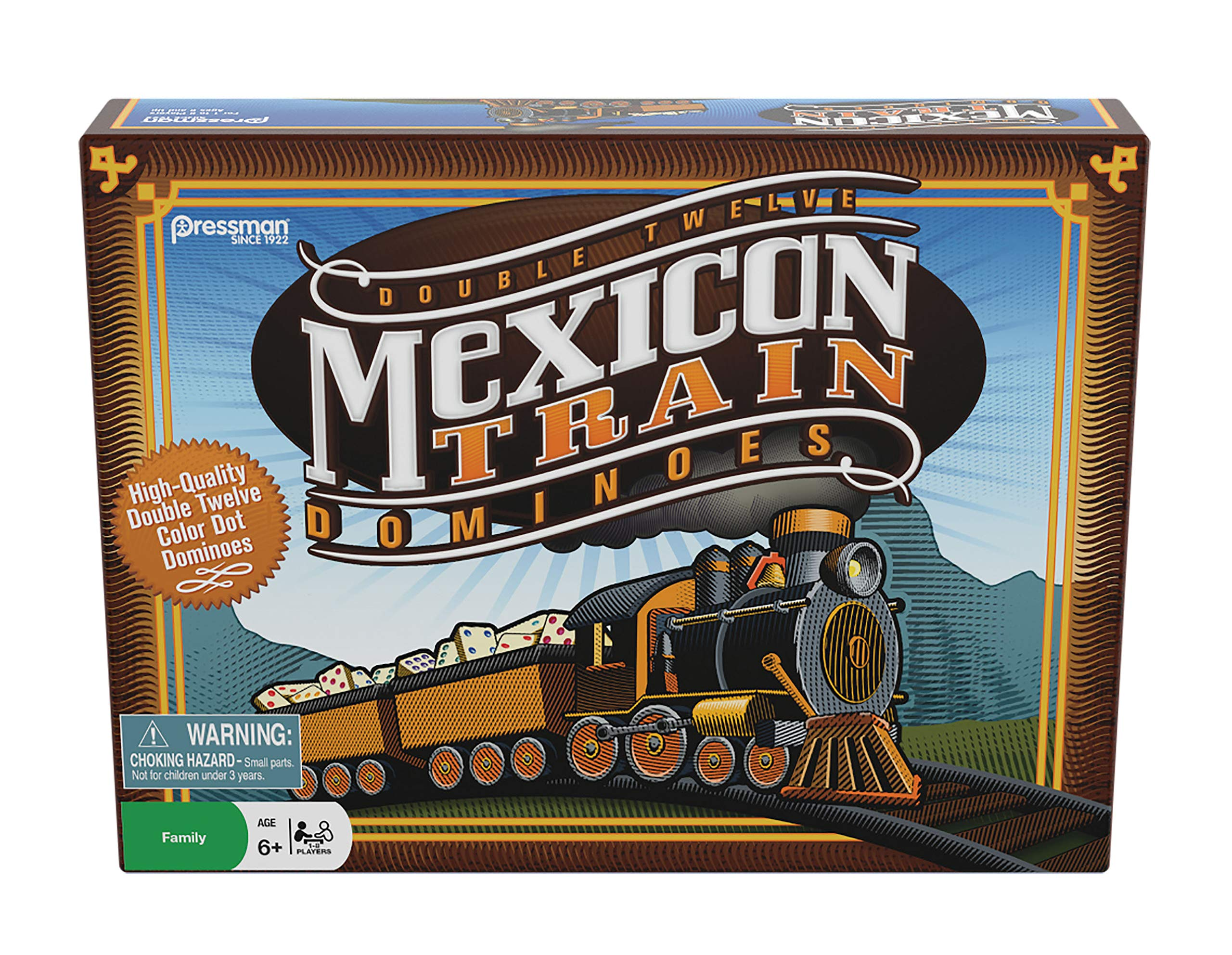 Mexican Train from Tactic Double-Twelve Domino Set Colour-Dot Dominoes for Easy Play Game Forup to 8 Players Dominoes World/'S Most Popular Domino Game