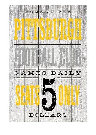 Amazon Com Pittsburgh Football Club Rustic Metal Sign 12 X 8