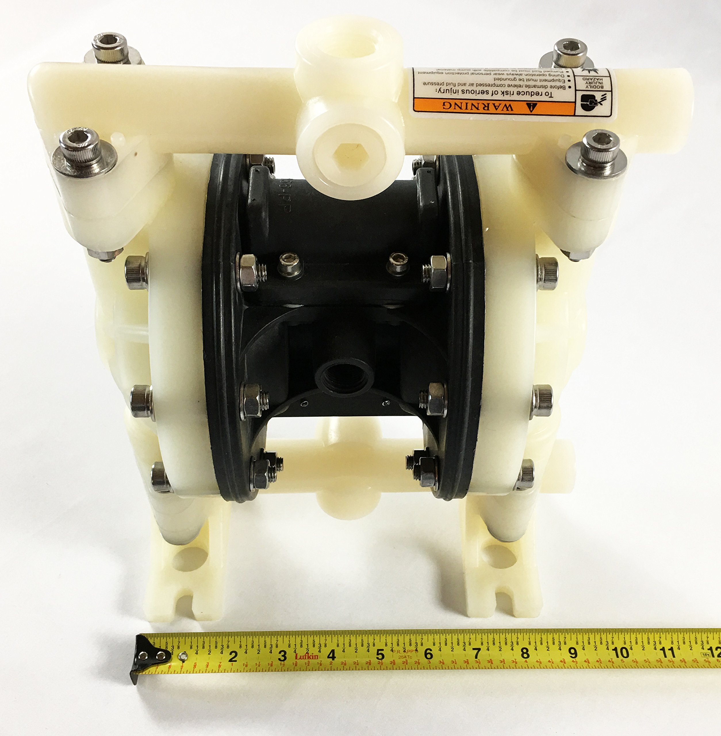 Double Diaphragm Air Pump PII.50 Chemical Industrial Polypropylene 1/2'' or 3/4'' NPT Inlet / Outlet by Plating International (Image #6)