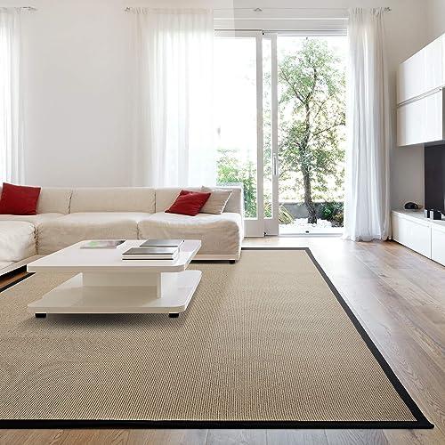 iCustomRug Zara Synthetic Sisal Collection Area Rug and Custom Size Runner