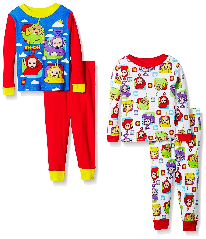 Teletubies Baby-Boys 4-Piece Cotton Pajama Set Pajama Set AME Sleepwear Children' s Apparel TYELLC2