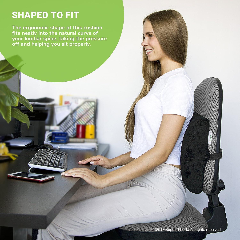 Cuscino lombare memory per terapia della postura Sostegno ergonomico per la schiena Cuscino per la casa l ufficio l auto il viaggio Allevia e
