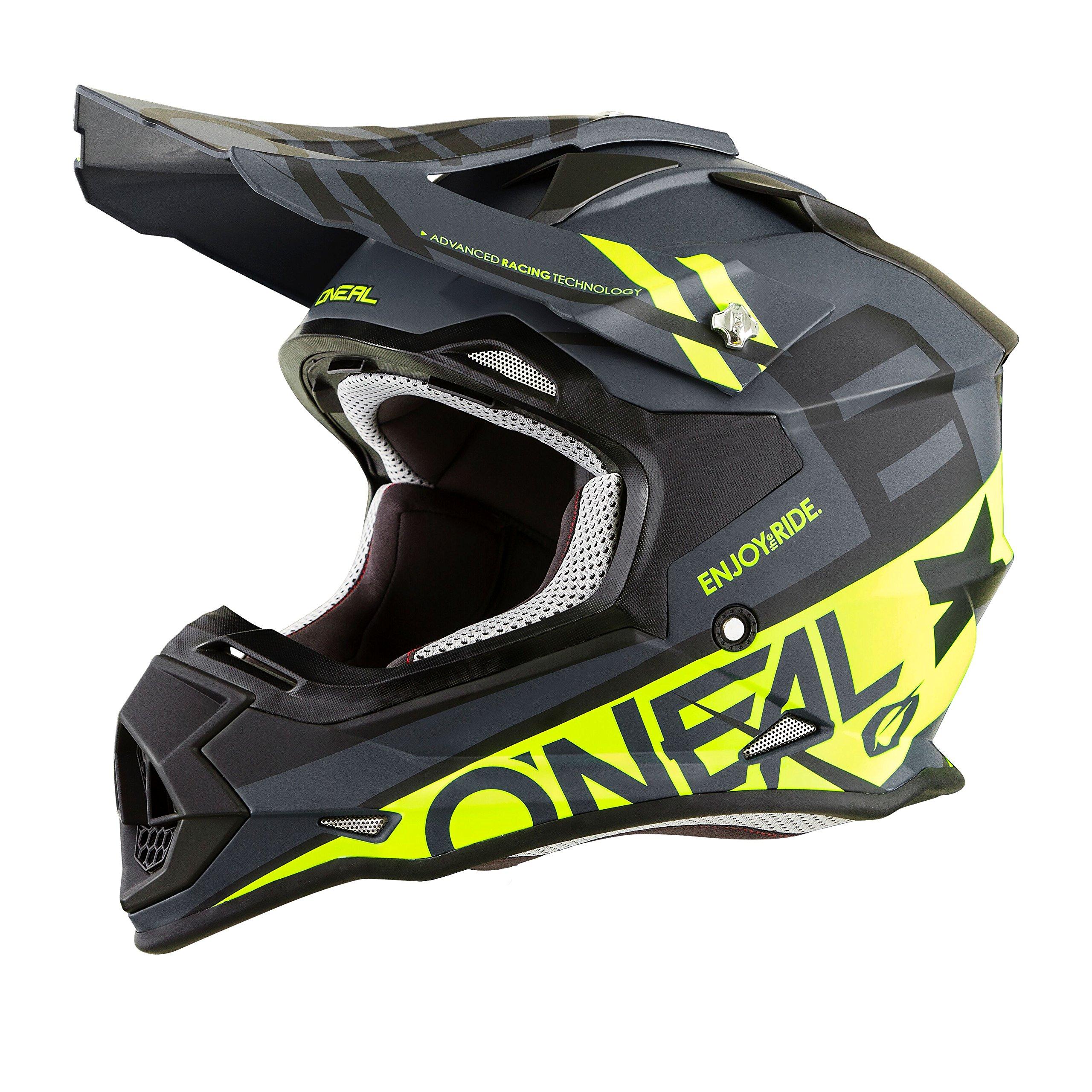 O'Neal Unisex-Adult 2SERIES Helmet (SPYDE) (Black/Hi Viz, X-Small) by O'Neal