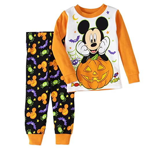 disney mickey mouse baby boys halloween pajama sleepwear set 18 months