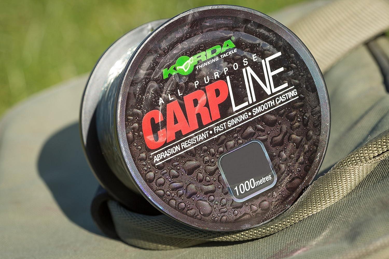 Korda NEW Carp Line Fishing Monofilament Mainline 1000m All Breaking Strains