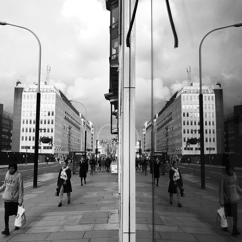 Amazon com reflection print photography street urban surreal mirror black and white cityscape architecture city victoria london