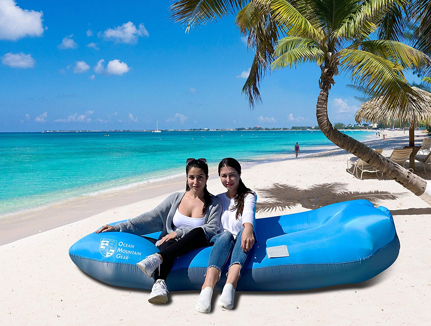 Waterproof Ripstop Nylon for Pool Float Beach OMG Plus Ocean Mountain Gear+ Inflatable Chair Air Lounger Sofa Lightweight and Portable Festival Backyard and Outdoor Use