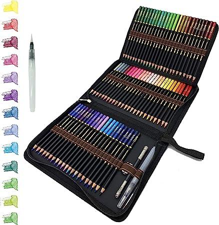 72 Lápices de Colores Acuarelables en estuche con cremallera, Fácil de almacenar y proteger sus lápices de dibujo profesionales, ideales para adultos niños, principiantes y expertos: Amazon.es: Hogar