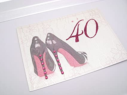 White Cotton Cards - Caja de recuerdo de 40º cumpleaños ...