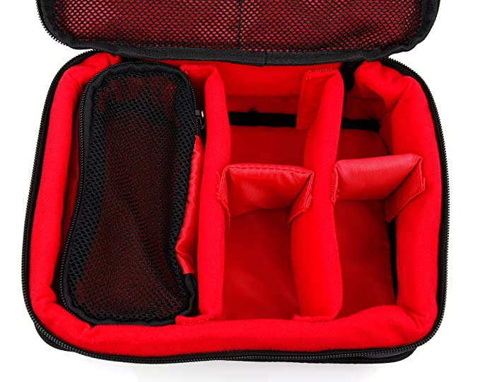 DURAGADGET Protective EVA DVR Case Zoom H6 in Red for the Zoom H4n