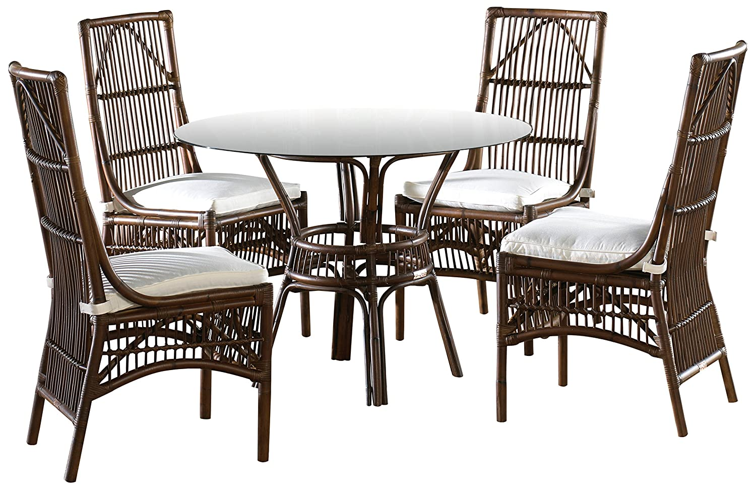 Panama Jack Sunrooms 6 PCPJS-2001-DIN Bora Bora Dining Set with Cushions, Sunbrella Canvas Coal