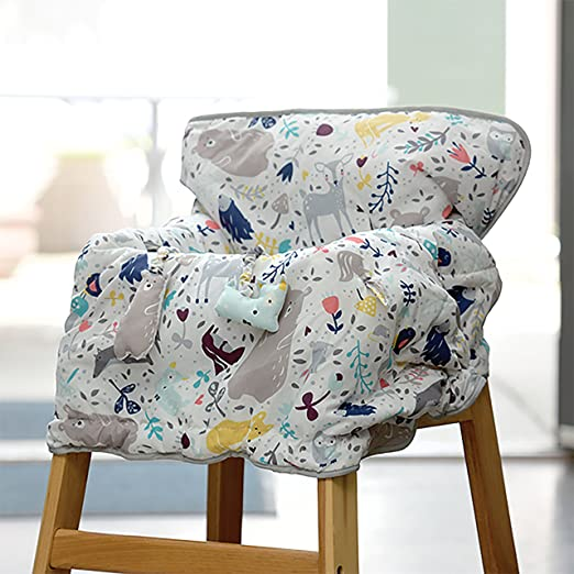Amazing Eddie Bauer Reversible Comfy Cart Cover High Chair Cover White Cjindustries Chair Design For Home Cjindustriesco