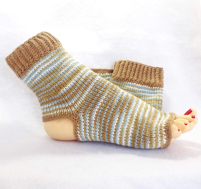 Amazon Handmade Flip Flop Socks Cotton Yoga Foot Sock Stripe