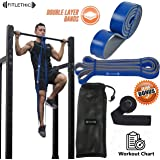 Resistance Bands, Fitlethic Pull Up Assist Exercise Loop Bands with Door Anchor, Workout Guide and Carry Bag for Men & Women - Powerlifting, Stretching, Gym