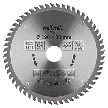 0 V 30 x 76 mm Wolfcraft 5970000 Sierra de Corona Turquesa