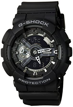 296600bd724 Amazon.com  Casio G-Shock X-Large Display Stealth Black Watch (GA110 ...