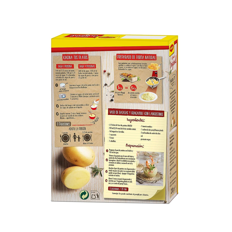 Maggi Puré de Patatas Natural - Puré Sin Gluten - 8 raciones de puré (2 Bolsas) - 230 g: Amazon.es: Amazon Pantry