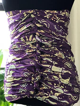 4852632ef Amazon.com: Gold on Purple Bengkung Belly Bind- Serged: Health ...