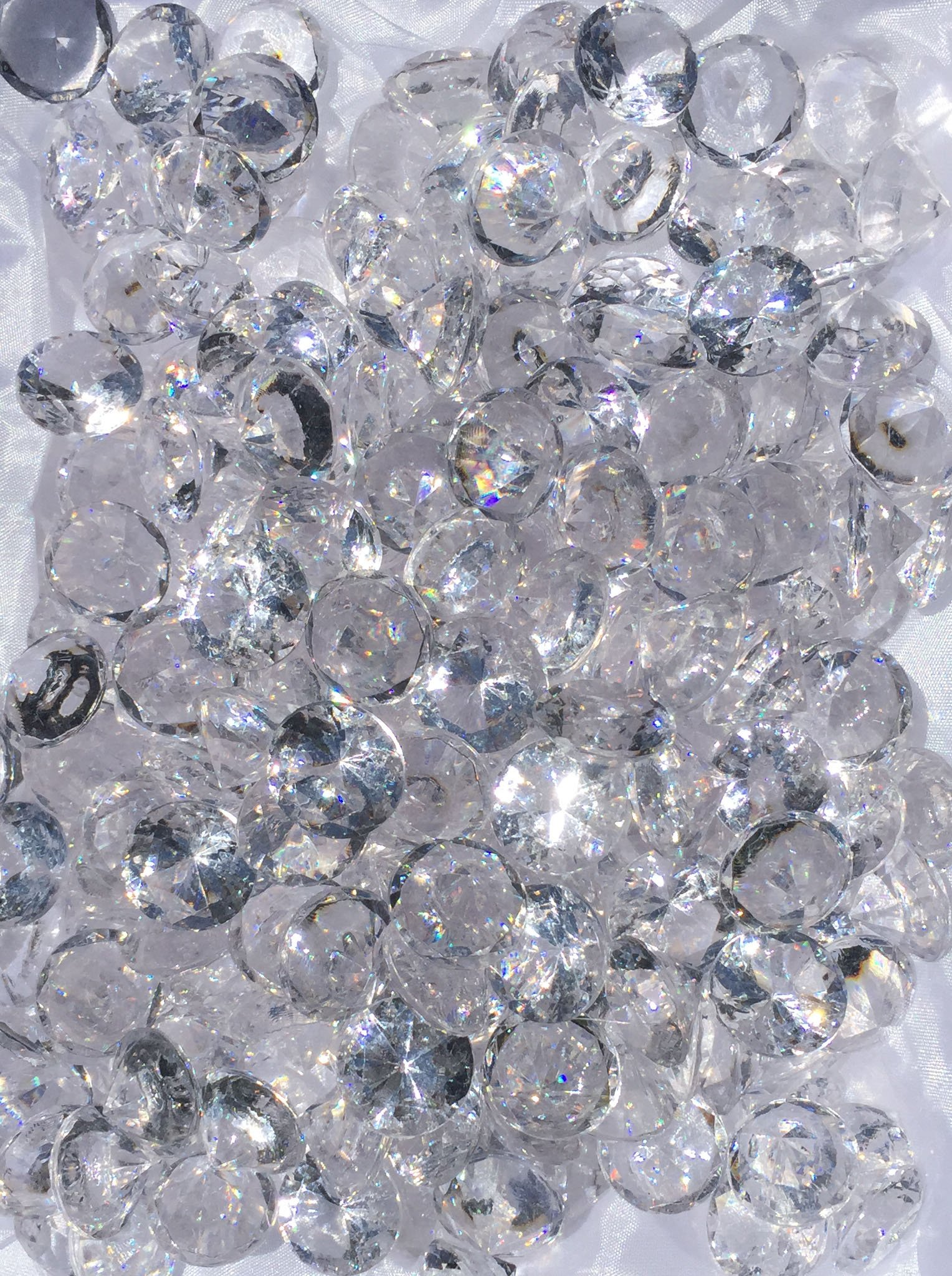 480+ Pieces 20mm Crystal Clear Acrylic Diamond Shape Jewels for Party Decoration ,Event ,Wedding , Vase Fillers, Arts & Crafts by SunRise (Image #1)