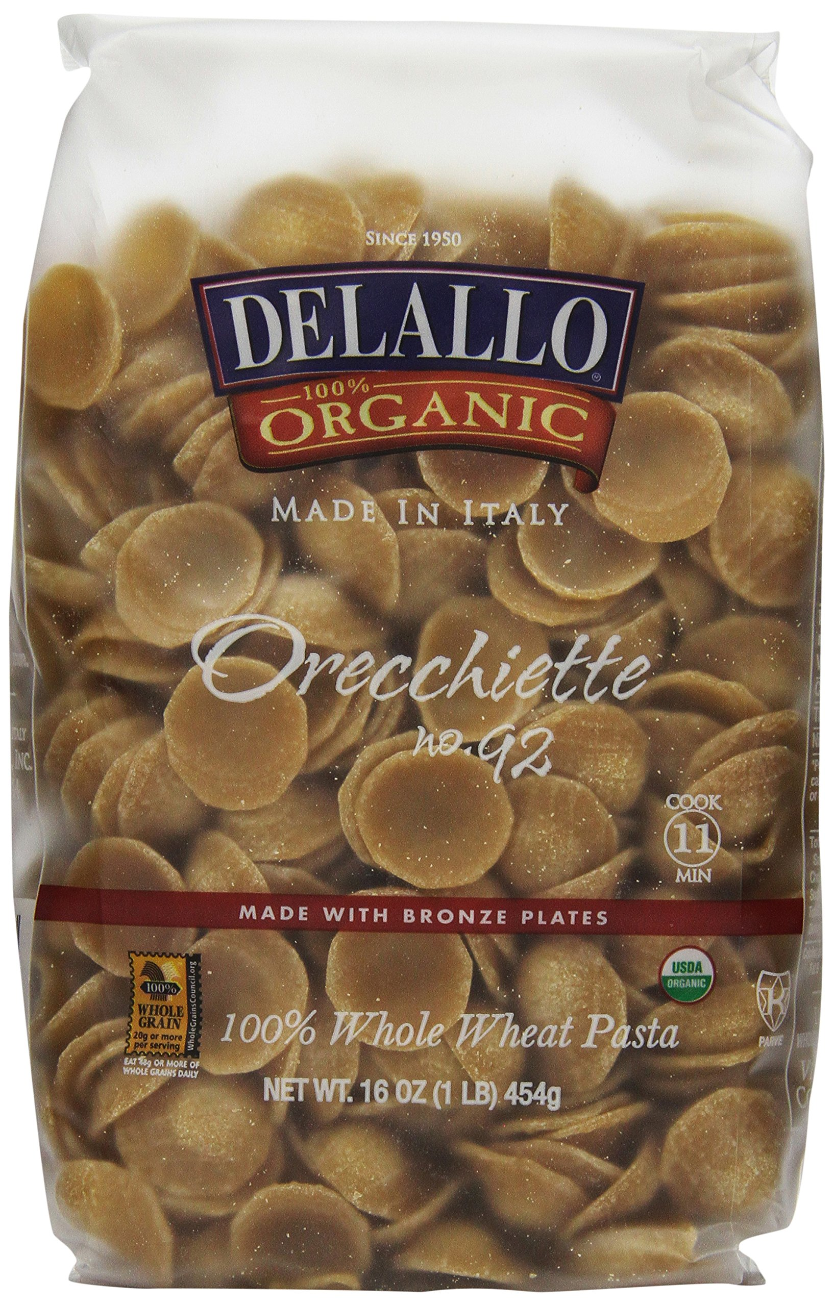 Amazon.com : Delallo Orzo Whole Wheat Pasta, 16-Ounce (Pack of 8 ...