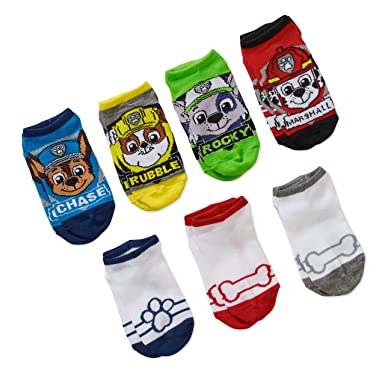 Boys Socks Ankle 2 Pairs Pack PAW PATROL Chase Rubble Kids UK Shoe Sizes 6 to 2