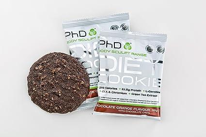 PhD - Galleta dietética nutricional, 50 g, paquete de 12 unidades.: Amazon.es: Salud y cuidado personal
