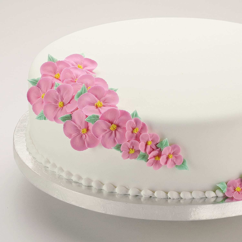 Amazon.com: Wilton 14-Inch Round Silver Cake Circles, 2-Count - Cake ...