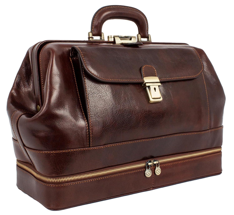 bb1b714c0489 Amazon.com  Leather Medical Bag