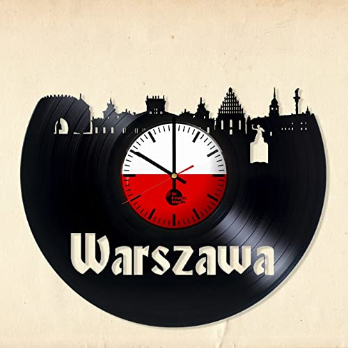 b5f38236d POLSKA WARSAW HANDMADE Vinyl Wall Clock - Get unique kitchen wall decor -  Gift ideas for mother and father, friends – POLSKA Unique Art Design -  Leave us a ...