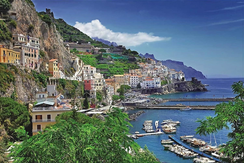 Becko Jigsaw Puzzle Aegean Sea Amalfi Coast Seaport - 1000 Pieces