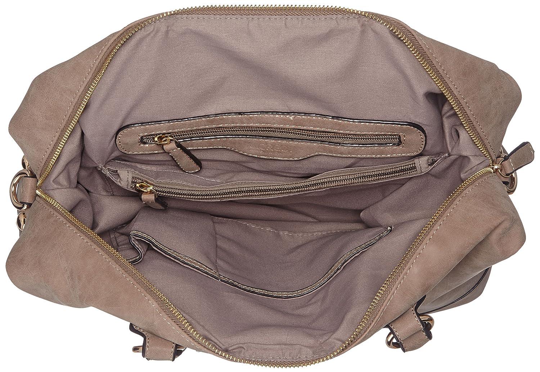 Torino, Womens Shoulder Bag, Braun (Taupe), 14x25x33 cm (B x H T) L.Credi